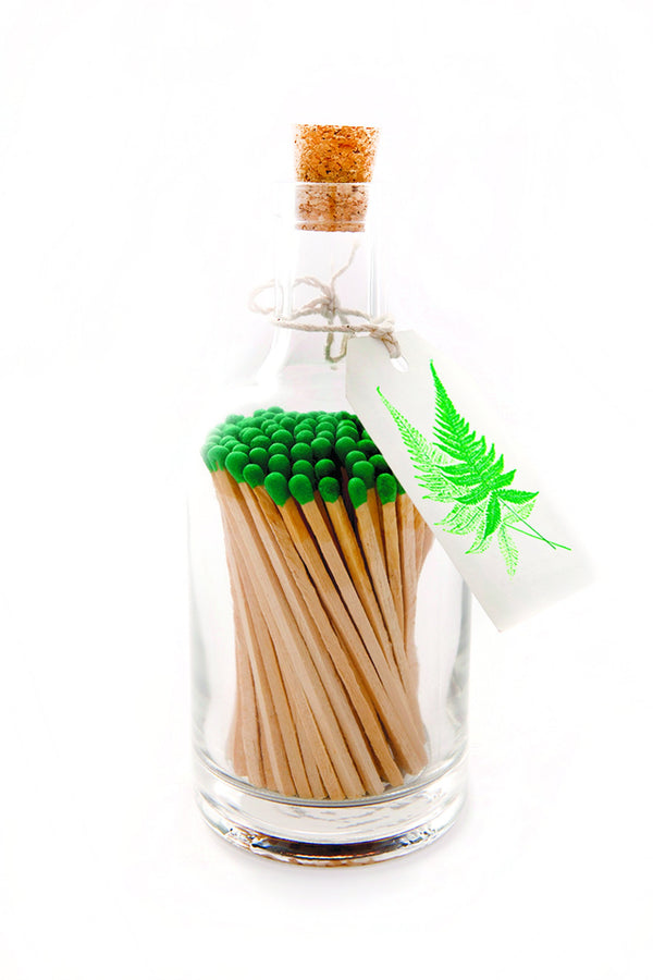Glass Bottles of Extra-Long Matches - Fern