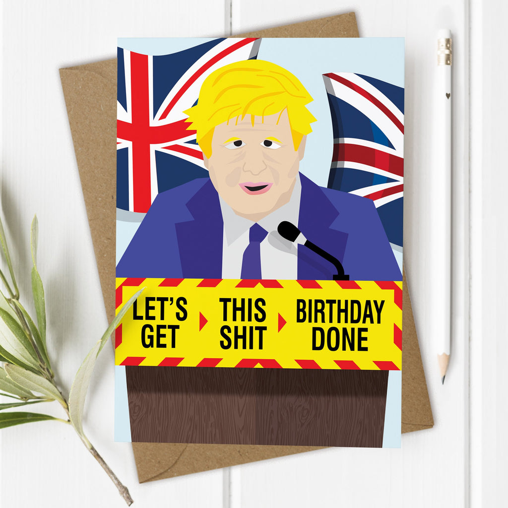 Boris Johnson Isolation Lockdown Birthday Card