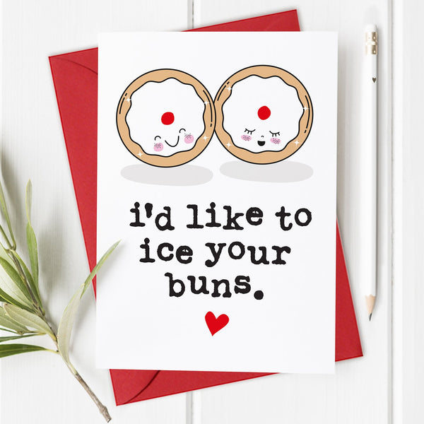 Iced Buns - Rude Lockdown Valentine's Day Card / Anniversary