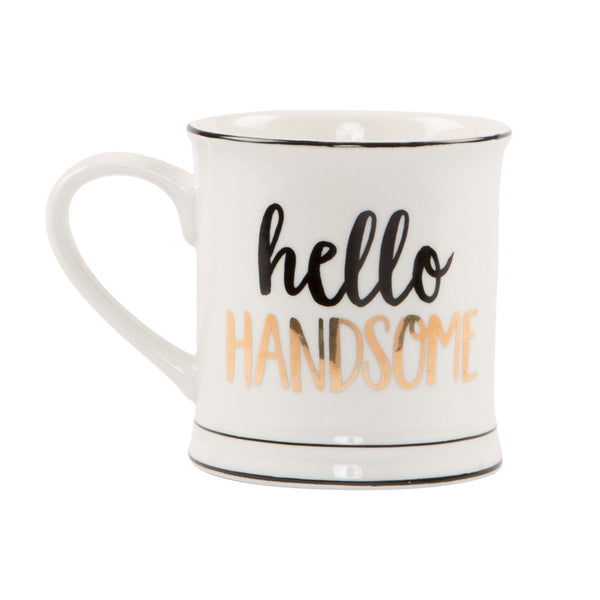 Metallic Monochrome Hello Handsome Mug