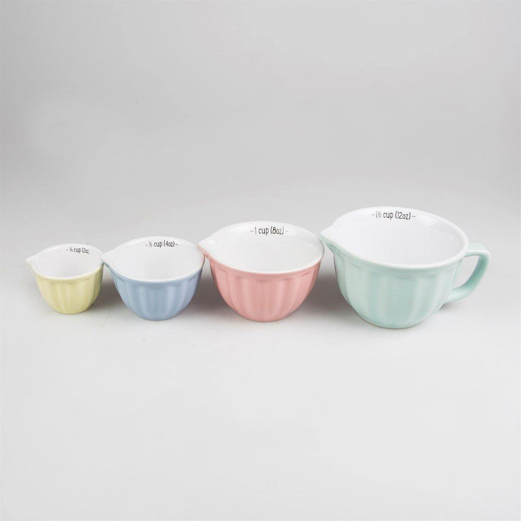Retro Pastel Measuring Cups - Set of 4 - Mrs Best Paper Co.