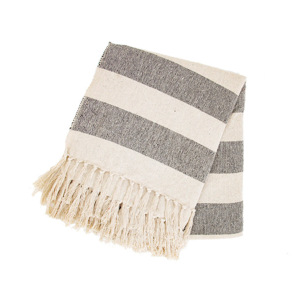 Scandi Boho Stripe Blanket Throw - 150 x 125 cm