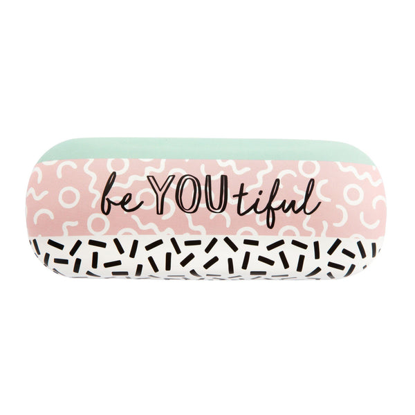 Memphis Modern Be You Beautiful Glasses Case - Mrs Best Paper Co.