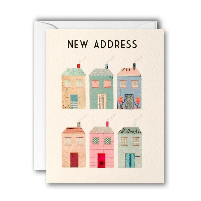 MC2580 - Houses New Address pk of 5 cards - Mrs Best Paper Co.