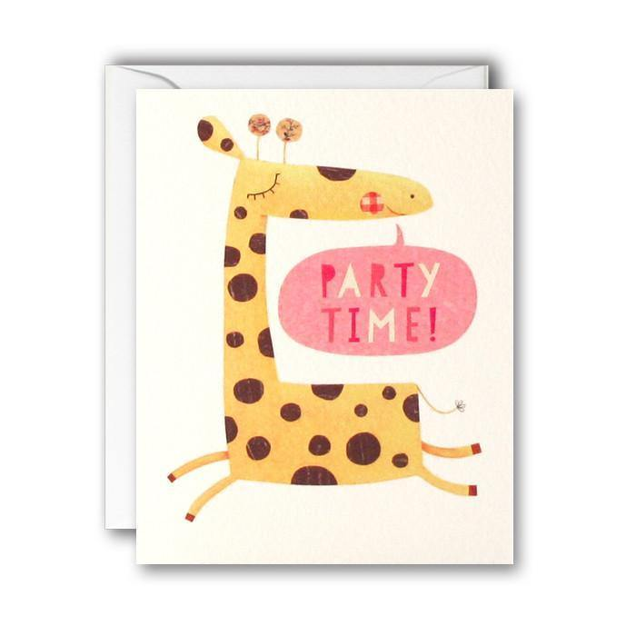 MC2599 - Giraffe Invitation pk of 5 cards - Mrs Best Paper Co.