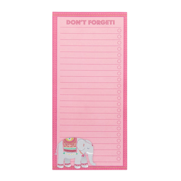 Mandala Elephant Don't Forget List Notepad - Mrs Best Paper Co.