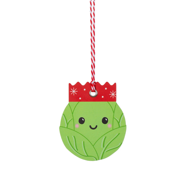 Brussels Sprouts Gift Tags - Set of 6