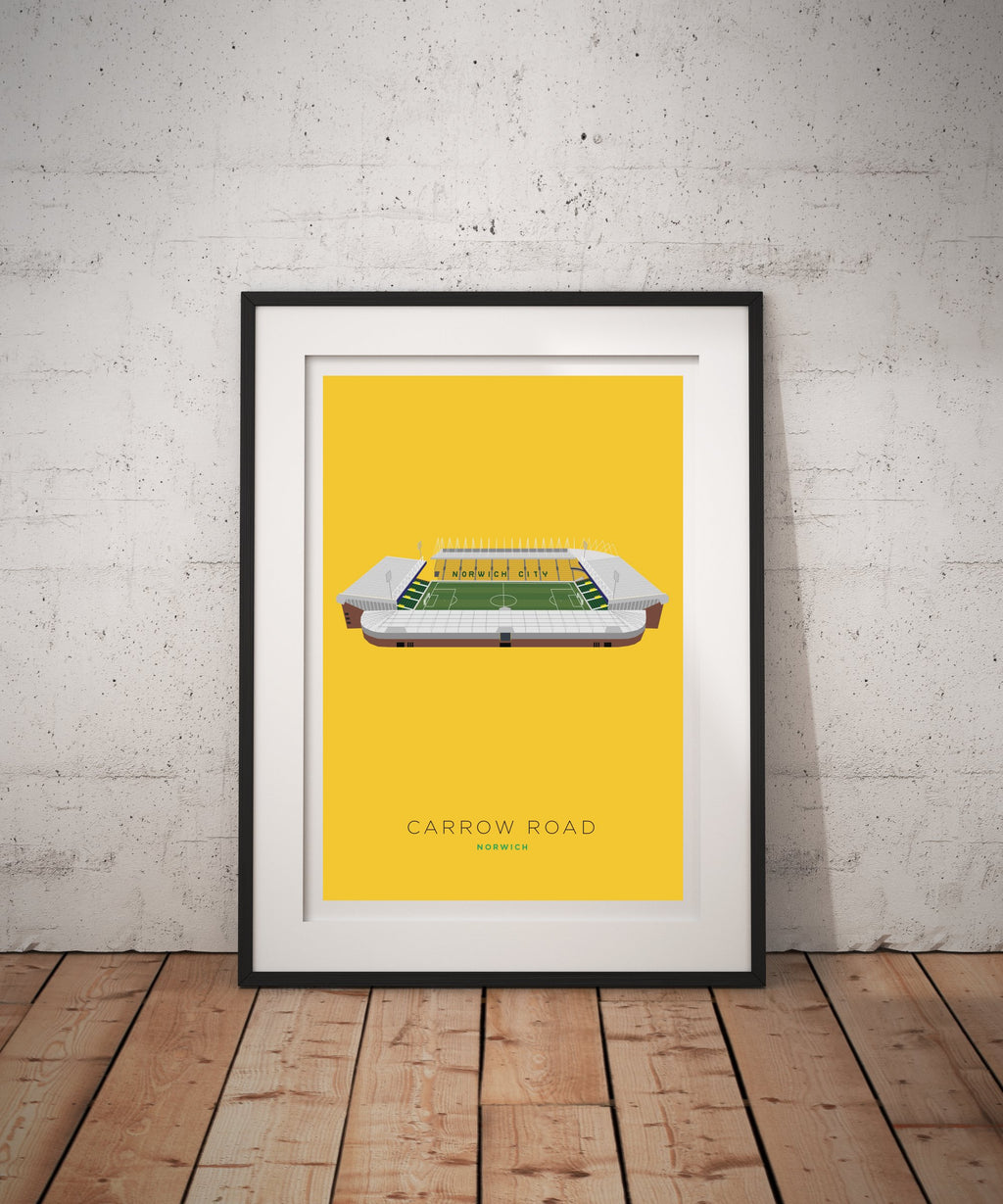 A4 Norwich City Football Stadium Print / Poster