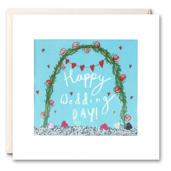 PS2478 - Wedding Arch Shakies Card - Mrs Best Paper Co.