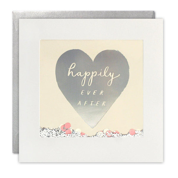 PT2893 - Happily Ever After Foiled Shakies Card - Mrs Best Paper Co.