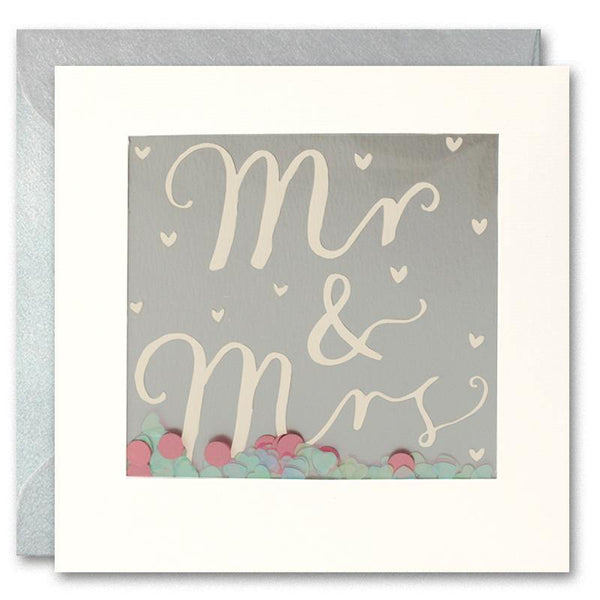 PT2895 - Mr & Mrs Foiled Shakies Card - Mrs Best Paper Co.
