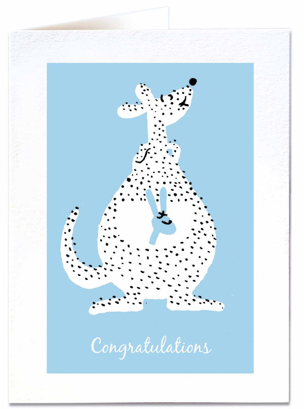 Congratulations Kangaroo Blue Card QP461