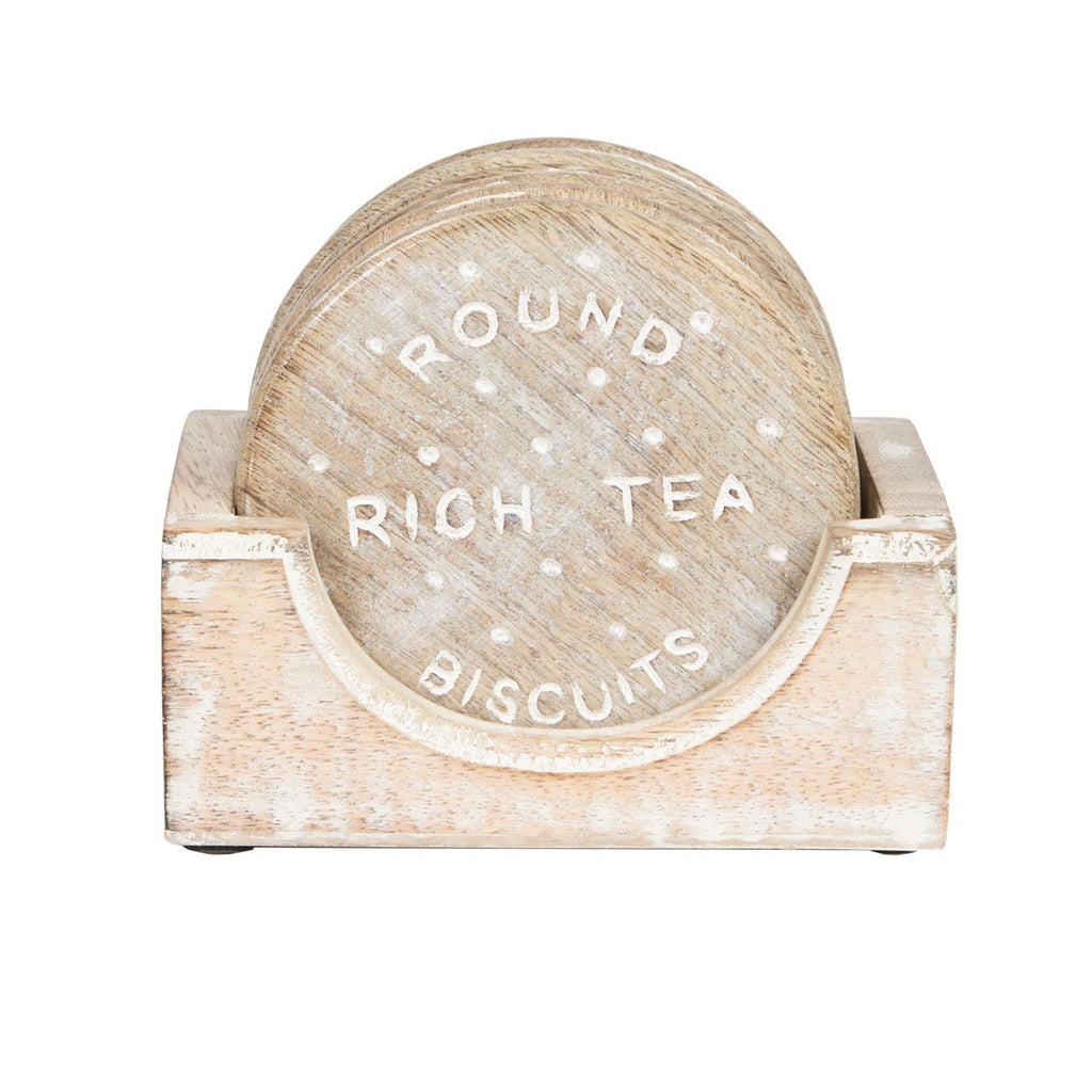 Rich Tea Biscuit Coaster - Set Of 4Pcs
