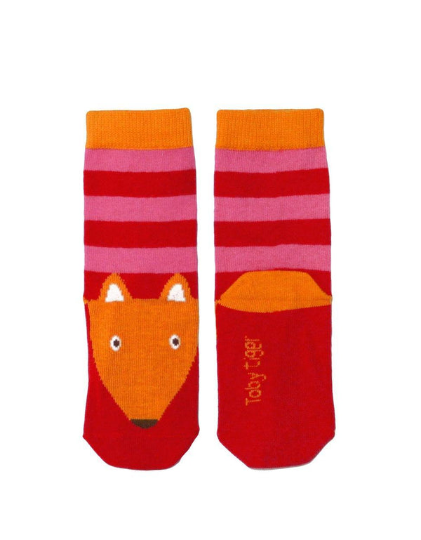 Toby Tiger Pink Fox Socks - Mrs Best Paper Co.