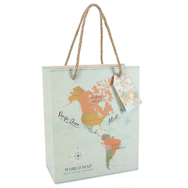 Wanderlust Map Medium Gift Bag