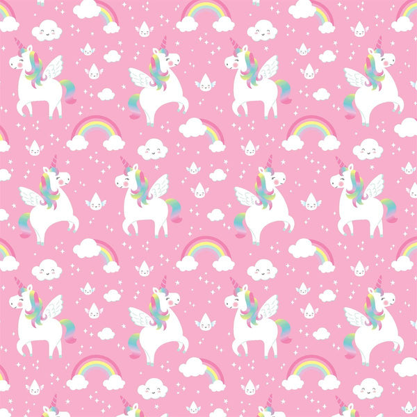 Rainbow Unicorn Wrapping Paper - Single Sheet