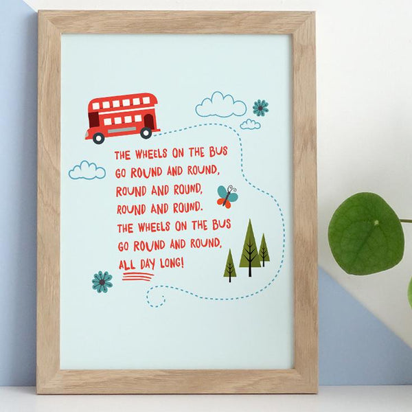 The Wheels on the Bus Print
