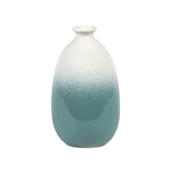 Dip Glazed Ombre Turquoise Vase - Mrs Best Paper Co.
