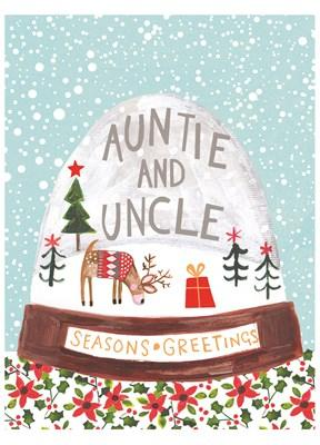 Auntie And Uncle Seasons Greetings (JX1912) - Mrs Best Paper Co.