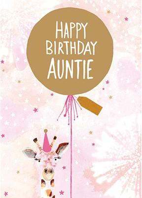 Happy Birthday Auntie (HA1712) - Mrs Best Paper Co.