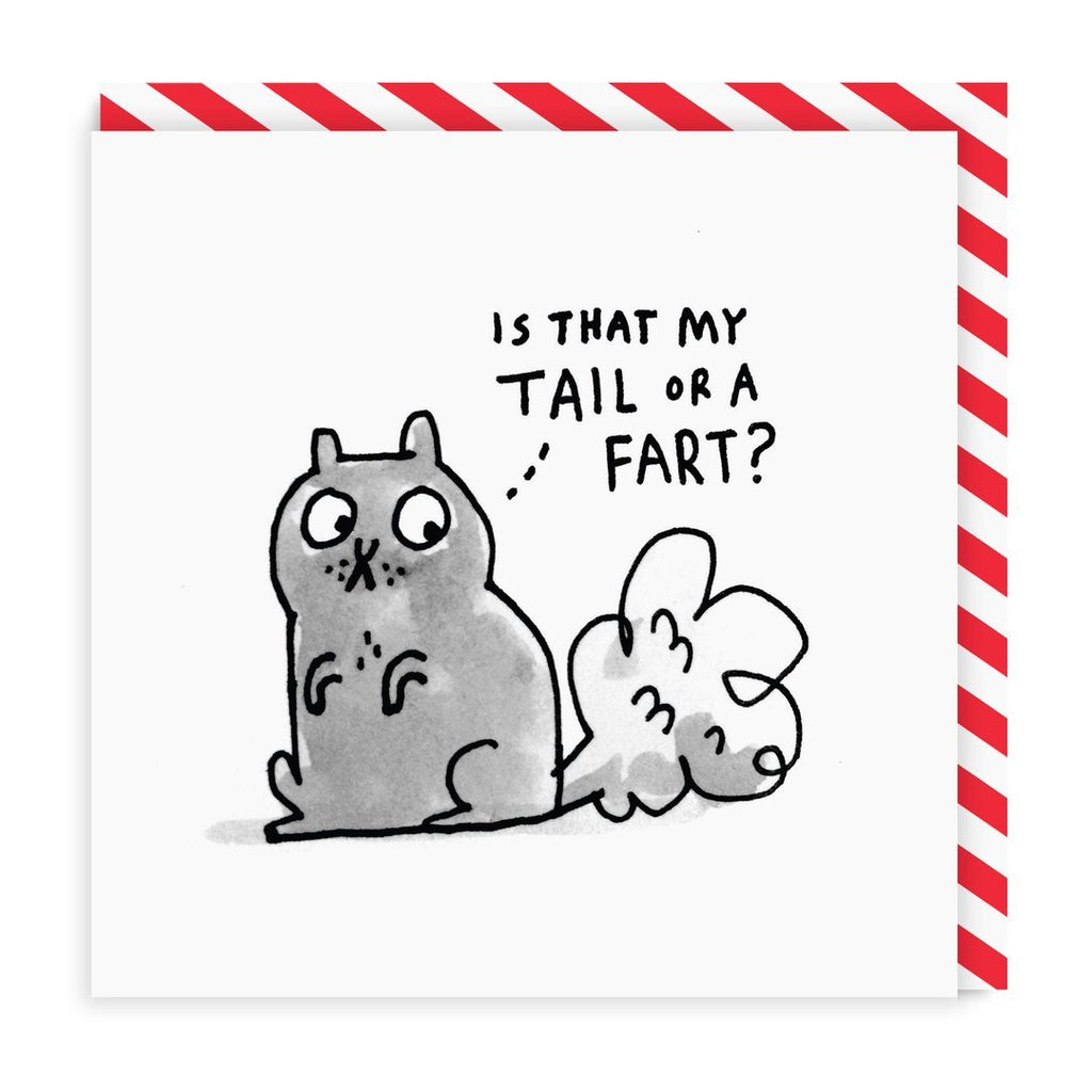 Is That My Tail Greeting Card - Ohh Deer