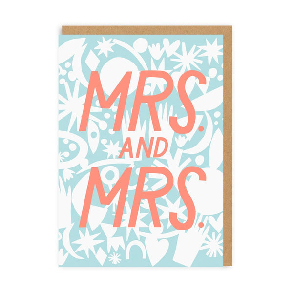 Mrs & Mrs Greeting Card - Ohh Deer