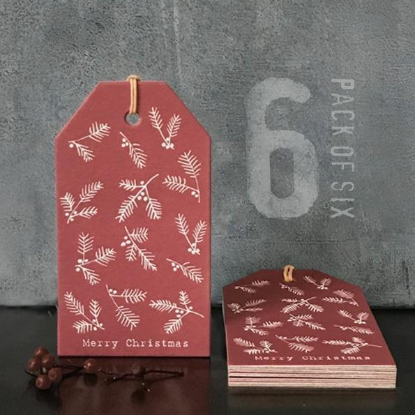 2304 Six Label pack-Red berries - Mrs Best Paper Co.