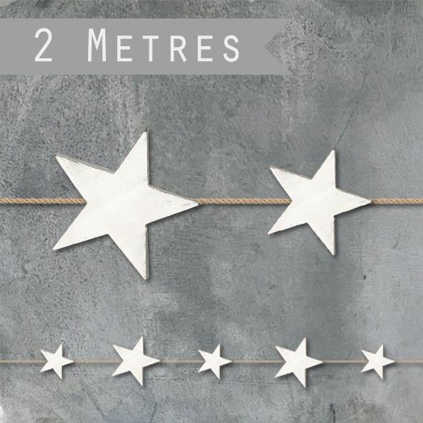 Wood star garland - Mrs Best Paper Co.