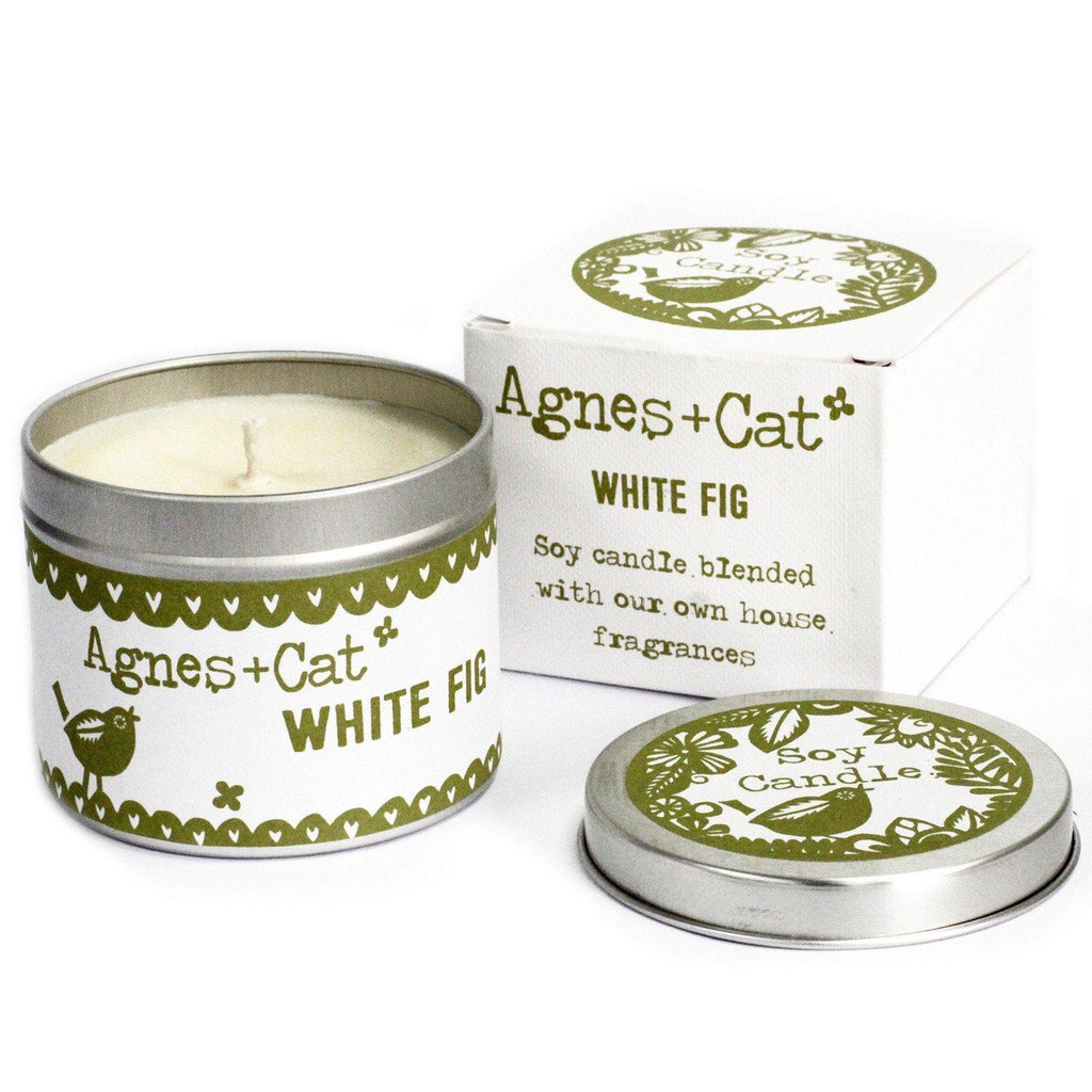 200ml Soy Wax Tin Candle - White Fig - Mrs Best Paper Co.