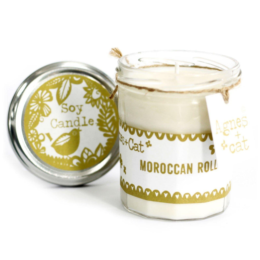 Jam Jar Candle - Moroccan Roll - Mrs Best Paper Co.