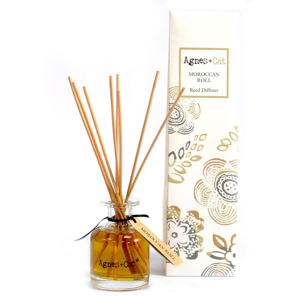 Agnes + Cat 140ml Reed Diffuser - Moroccan Roll - Mrs Best Paper Co.