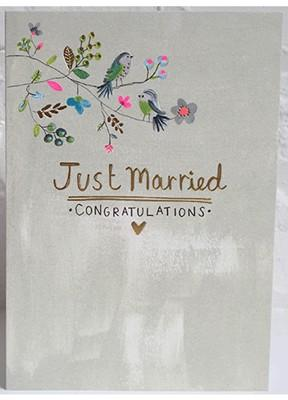 Just Married (WH1710) - Mrs Best Paper Co.