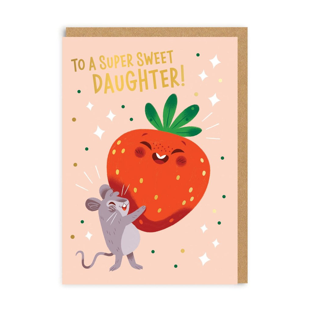 Daughter Super Sweet Greeting Card - Ohh Deer