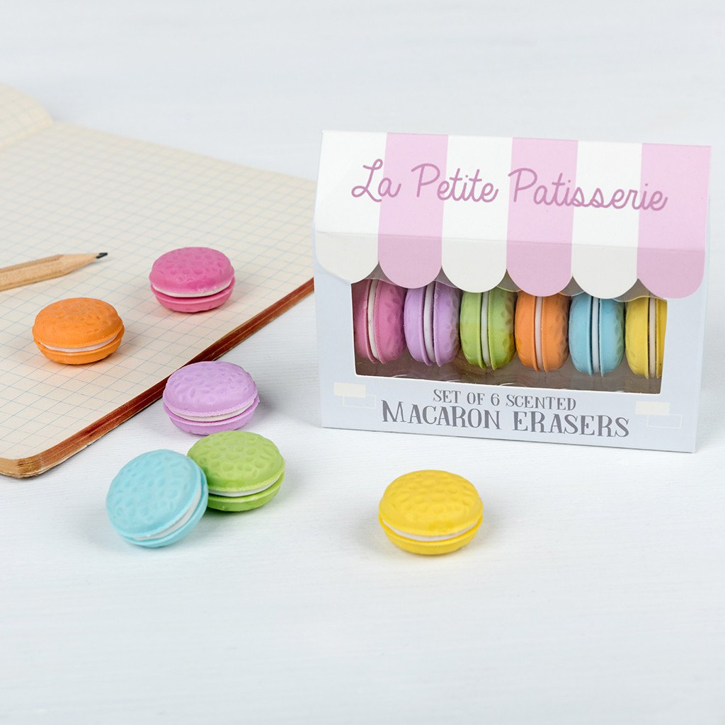 Scented Macaron Erasers (Set Of 6) 27549