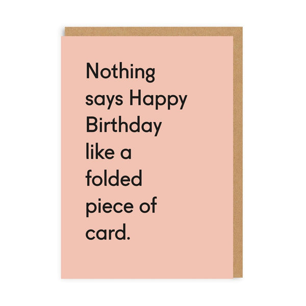 Folded Piece Of Card Greeting Card - Ohh Deer