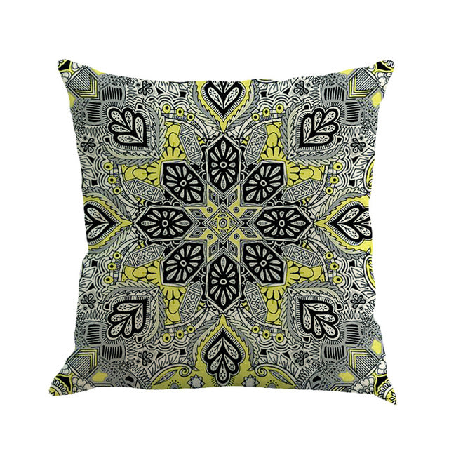 Majestic-Kids Bohemia black and yellow cushion