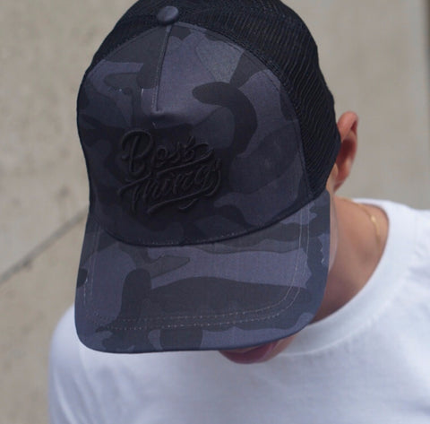 Midnight Camo Trucker Cap