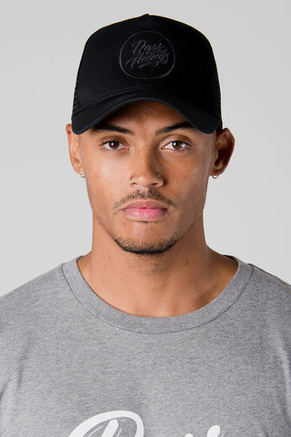Black on Black Trucker Cap