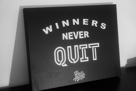 Winners Never Quit Canvas