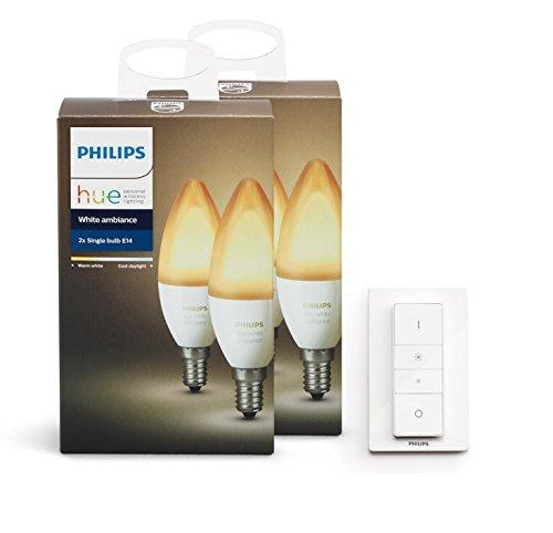 Philips Hue Ambiance Personal Wireless Lighting, Synthetics, E14, 40 W, White - Spend Bitcoin