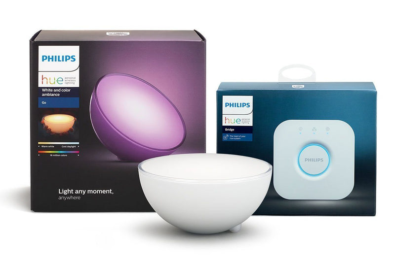 Philips Hue Entertainment Bundle - Hue Go, Hue Bridge 2.0 Starter Kit - Spend Bitcoin