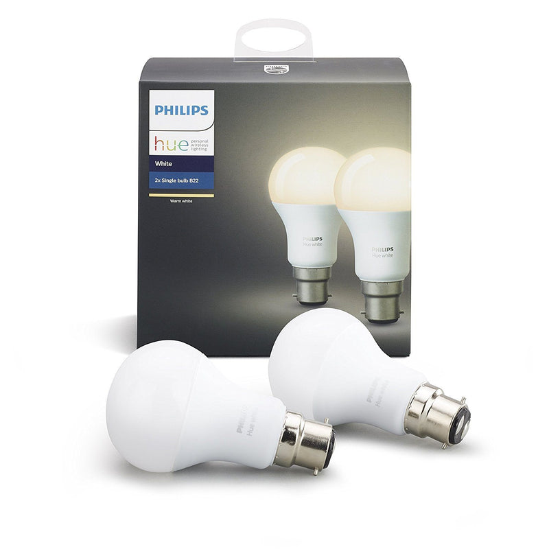 Philips Hue Personal Wireless Lighting LED Light Bulb, Synthetics, B22, 9.5 W, White - Spend Bitcoin