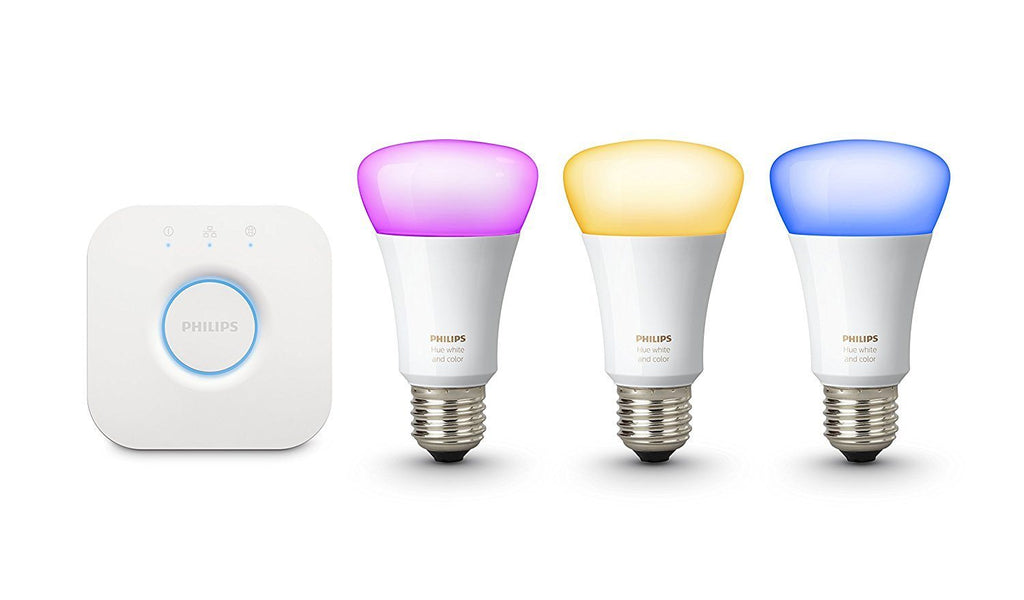 Philips Hue White and Colour Ambiance Wireless Lighting E27 Starter Kit - Spend Bitcoin