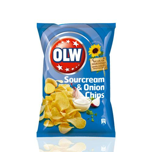 OLW SOURCREAM & ONION CHIPS 175 GR
