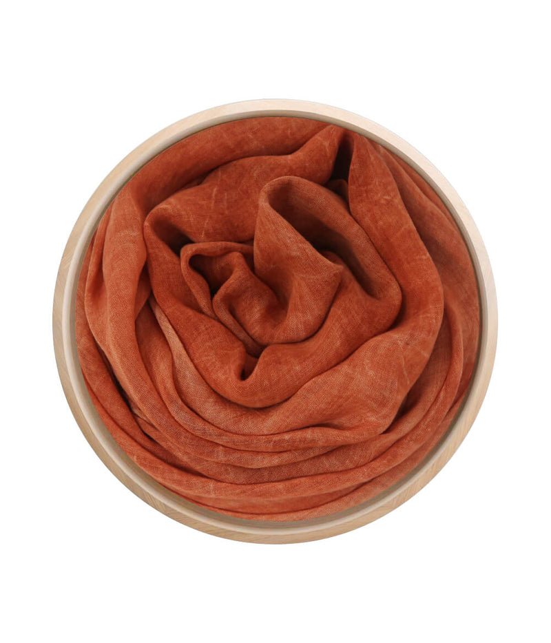 Foulard in bamboo Ruggine