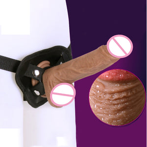 New Strap On Dildo Pants Artificial Realistic Penis Lesbian Sex Toys