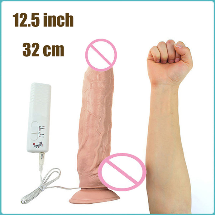 12 inch vibrating dildo Huge Silicone Dildo with Sturdy Suction Cup