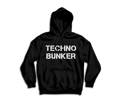 """TECHNO BUNKER"" Hooded Sweatshirt"