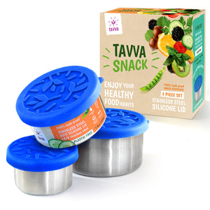 Tavva® Snack Deluxe Stainless Steel Containers Set of 3