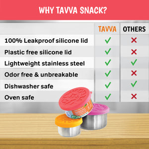 Tavva® Snack Medium 7.4 oz Deluxe Stainless Steel Container